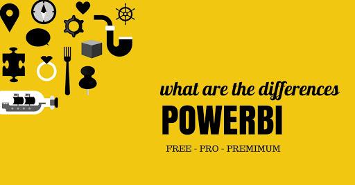 power bi free vs pro versions